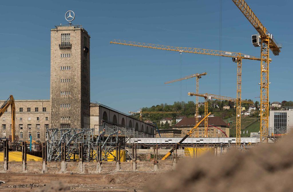 S-21-Baustelle am Hauptbahnhof: In Berlin befasst sich am Montag der Verkehrsausschuss des Bundestages mit dem Thema S 21. Foto: Lichtgut/Max Kovalenko