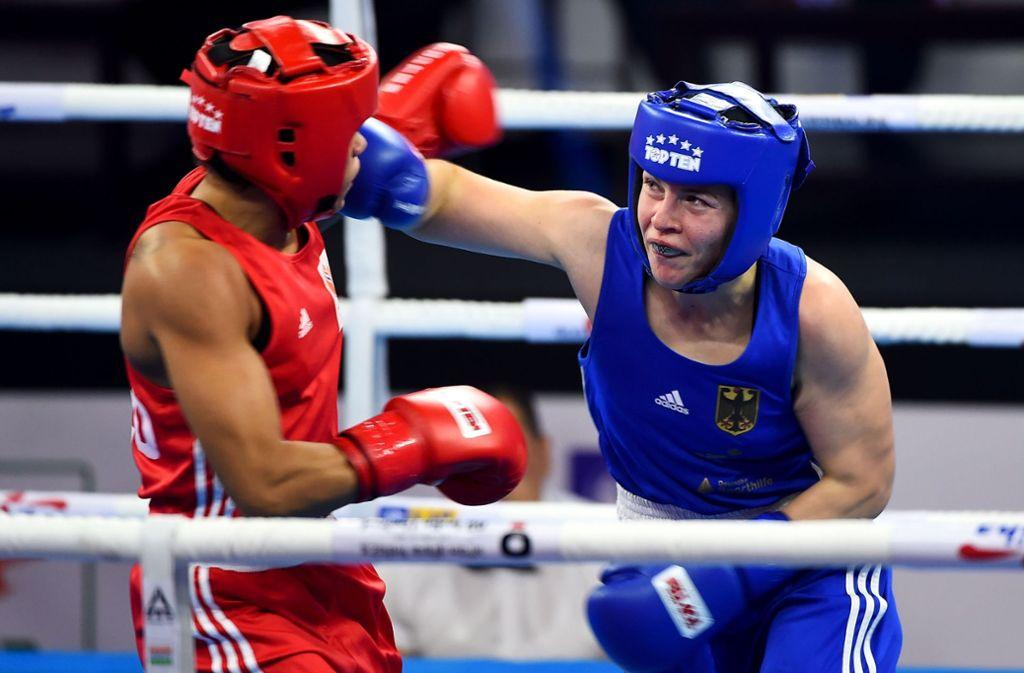 Wahner sorgte für den größten Erfolg im deutschen Amateurboxen der Frauen. Foto: AFP