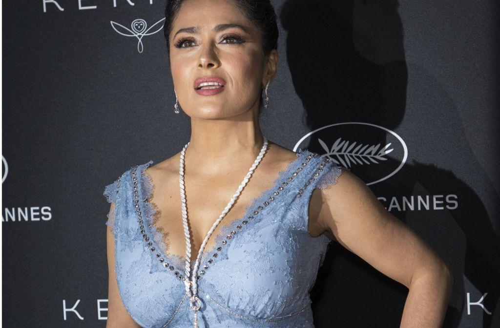 """Schauspielerin Salma Hayek hat bereits Veränderungen in Hollywood durch die """"MeToo""""-Bewegung festgestellt. Foto: Invision/AP"""