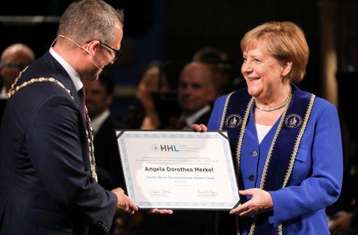 Kanzlerin  in Leipzig mit Ehrendoktorwürde ausgezeichnet