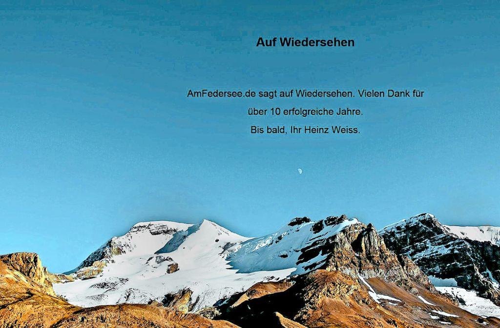 AmFedersee.de hieß die Internetseite, die der Bad Buchauer Gemeinderat Heinz Weiss betrieb  – jetzt ist sie dicht, ihr Macher verreist. Foto: StZ