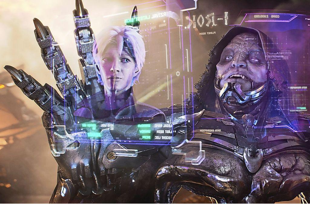 """In """"Ready Player One"""" begegnen wir in einer virtuellen Welt vertrauten Motiven – etwa düsteren Kraftprotzen, die aus Marvel-Comics stammen könnten. Foto: Warner"""