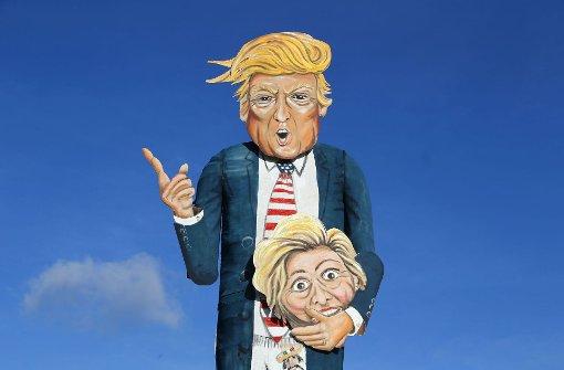 Donald Trump geht in Flammen auf