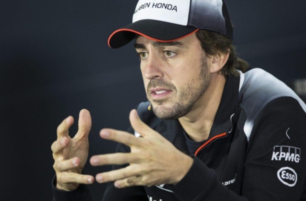 Kein grünes Licht für Fernando Alonso in Bahrain Foto: dpa