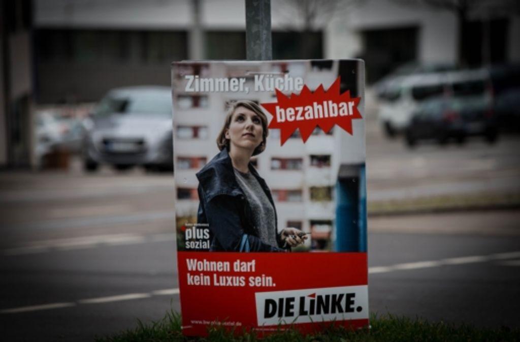Die Linken fordern unter anderem mehr bezahlbare Wohnungen. Foto: Lichtgut/Achim Zweygarth