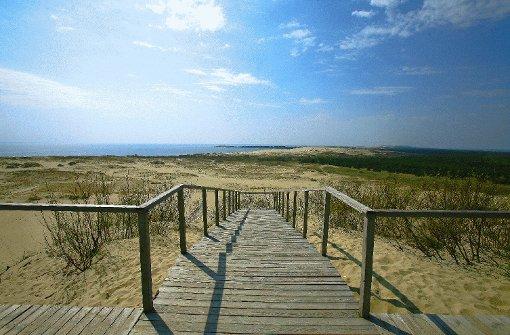 Nur Sand und Himmel