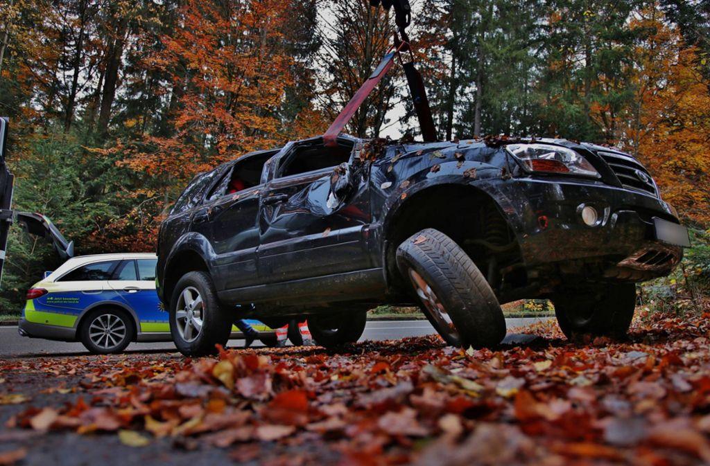 Auf 15 000 Euro beläuft sich der Sachschaden eines Unfalls nahe Althütte. Foto: 7aktuell.de/ Lermer