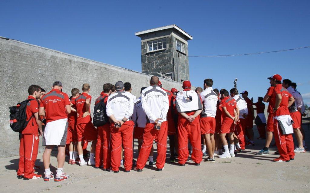 Hier die Fotos vom Ausflug des VfB Stuttgart auf die südafrikanische Gefängnisinsel Robben Island: Foto: Pressefoto Baumann