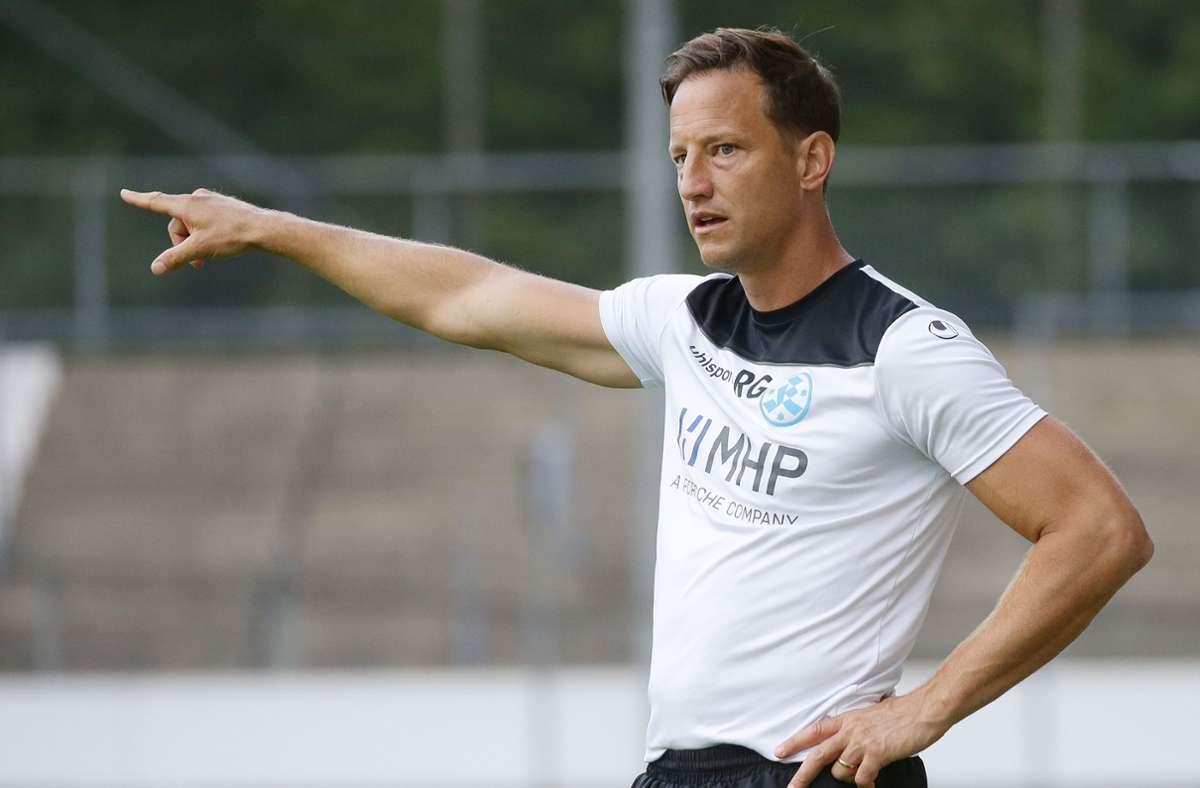 Kickers-Trainer Ramon Gehrmann steht mit den Blauen im WFV-Pokal-Achtelfinale. Foto: Baumann/Hansjürgen Britsch