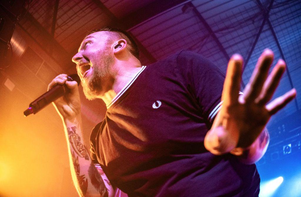 Der Rapper Panik Panzer am Donnerstag in Stuttgart im LKA Foto: Lichtgut/Oliver Willikonsky
