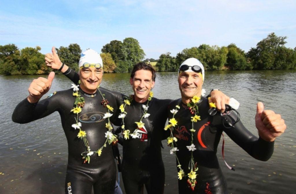 Einmal den Neckar langschwimmen: Wir zeigen Eindrücke von der Aktion in unserer Bilderstrecke. Foto: factum/Granville