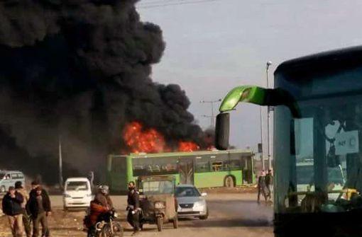 Die Evakuierung  aus  Aleppo gerät ins Stocken