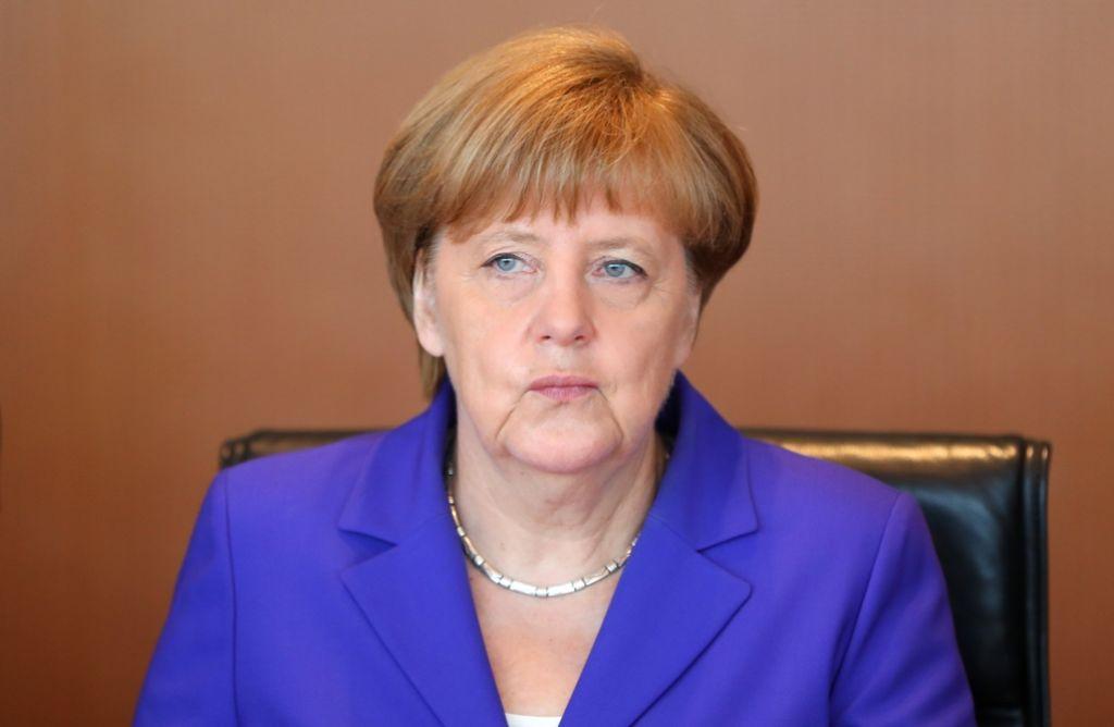 Bundeskanzlerin Angela Merkel plant  einen neuen Anlauf für ein Vierertreffen mit dem russischen sowie dem ukrainischen Präsidenten Foto: dpa