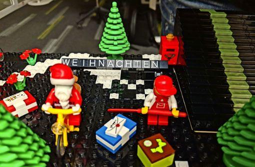 Kleine Lego-Welten am Hans-im-Glück-Brunnen