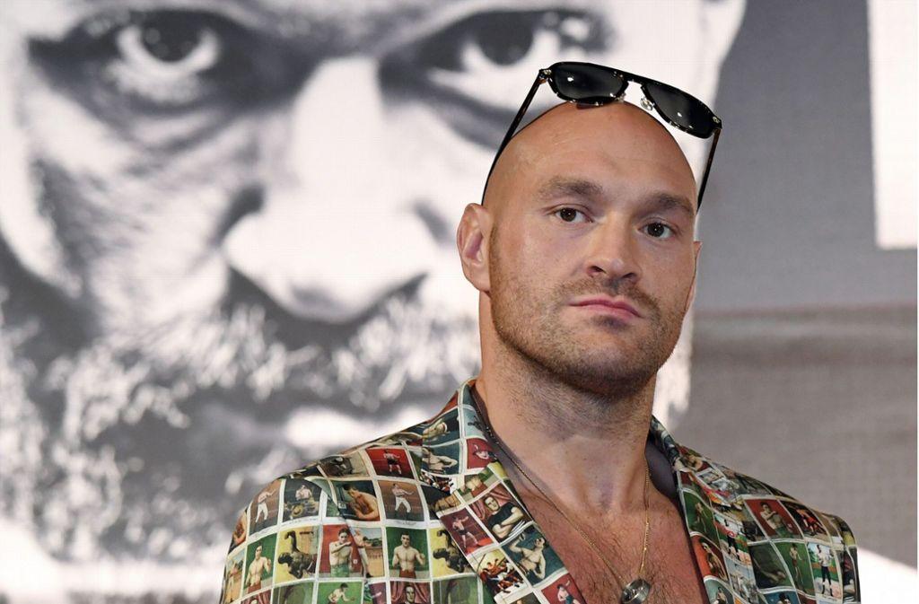 Der Optik nach könnte Tyson Fury auch ein Star in der Musikszene sein. Foto: AFP/Ethan Miller