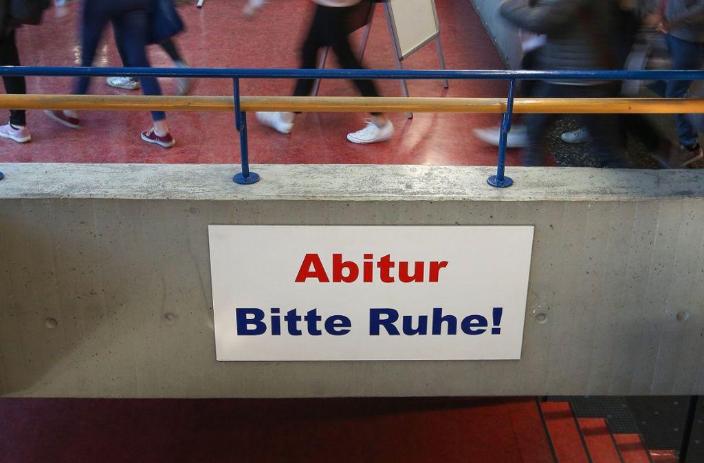 In der diesjährigen Abiturphase in Baden-Württemberg herrscht alles anderes als Ruhe. Foto: dpa