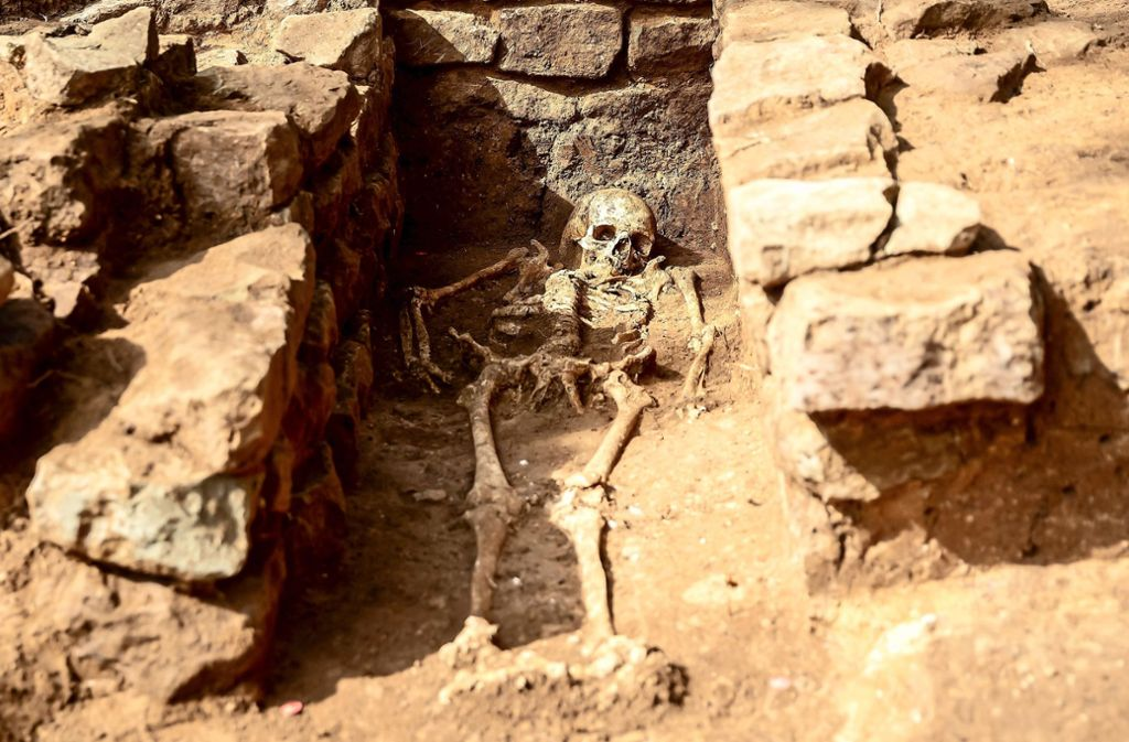 In den Gräbern wurden Skelette von Männern, Frauen und Kindern gefunden. Foto: Lichtgut/Julian Rettig