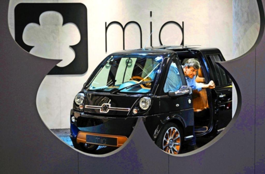 Das Elektroauto Mia sollte mit ungewöhnlichen Designideen überzeugen. Foto: dpa