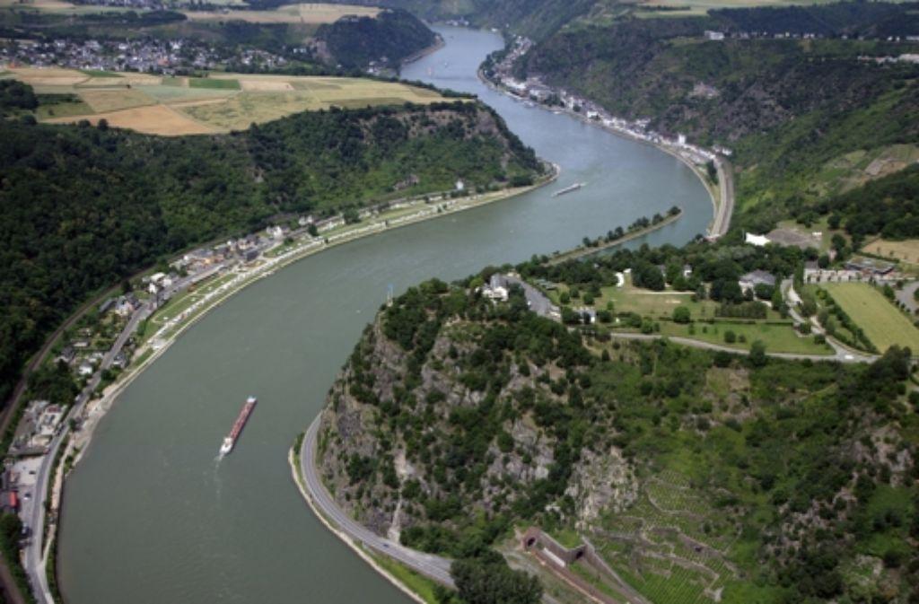 Pechstein kraulte 30 Tage lang im Rhein, insgesamt gut 1200 Kilometer.Foto: dpa Foto: