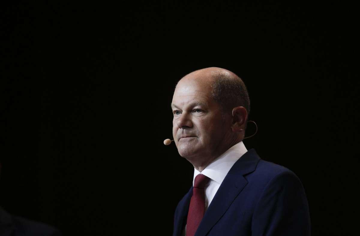 Olaf Scholz hat Zweifel an der Regierungsfähigkeit der Linkspartei. Foto: AP/Markus Schreiber