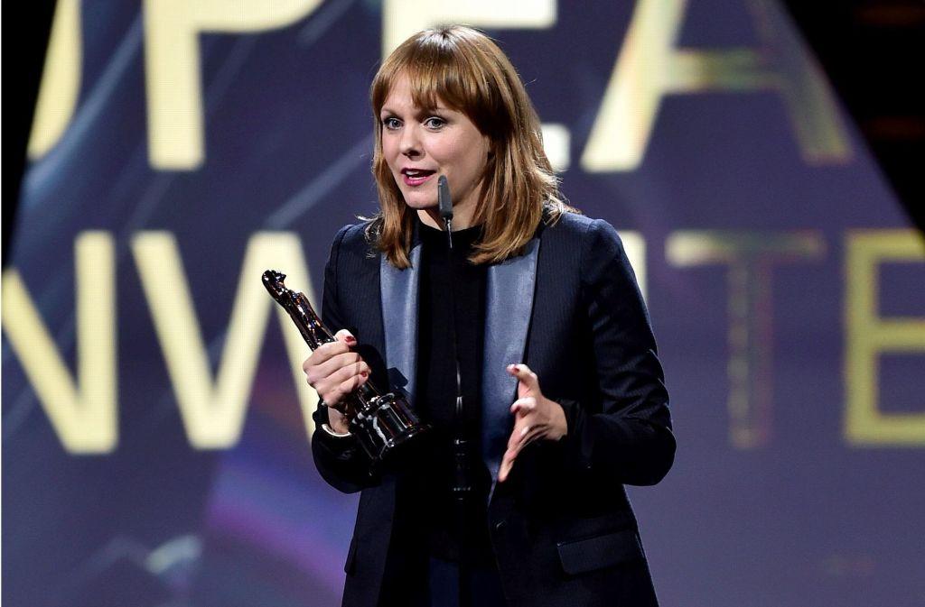 Die deutsche Regisseurin und Autorin Maren Ade ist als beste europäische Drehbuchschreiberin ausgezeichnet worden. Foto: AFP