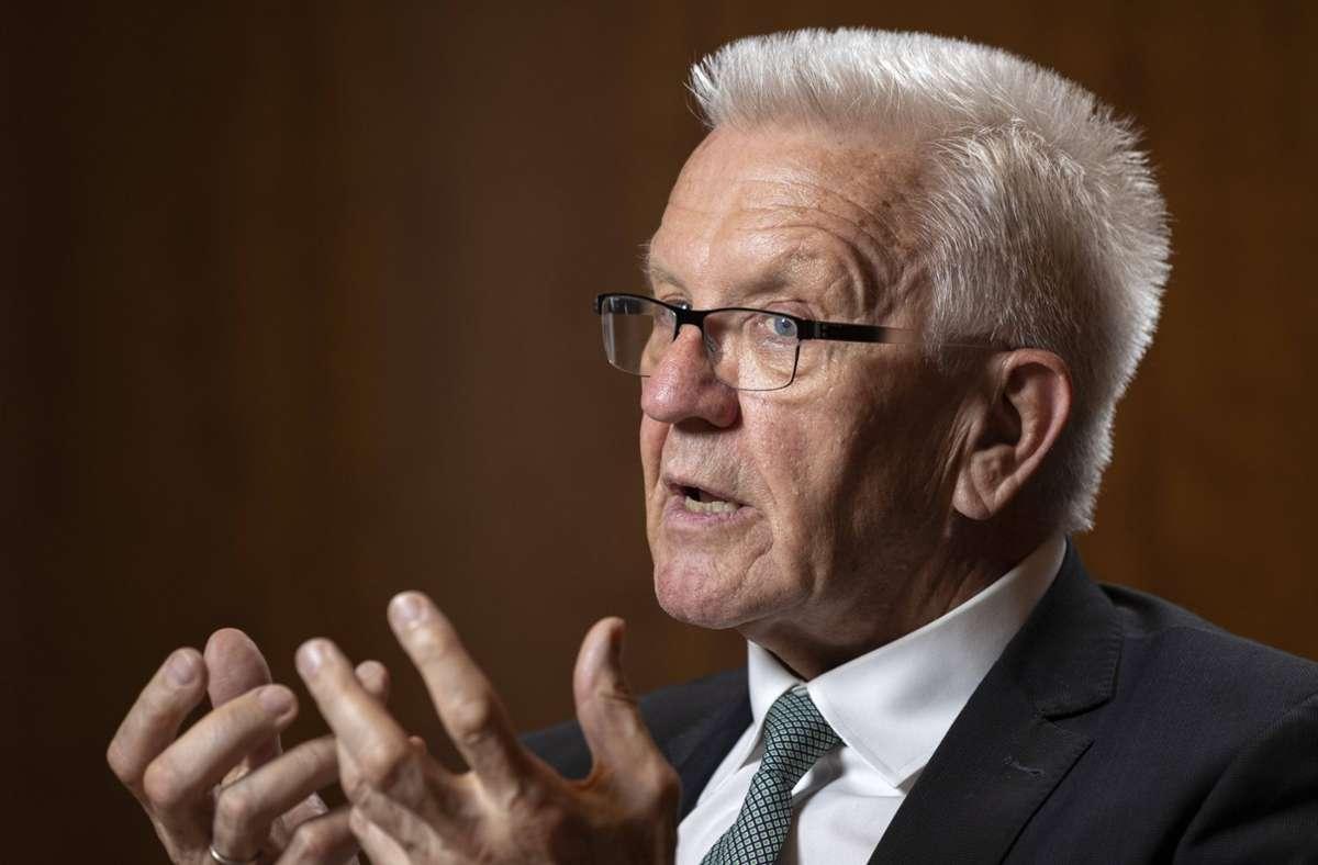 Baden-Württembergs Ministerpräsident Winfried Kretschmann. Foto: imago images/photothek/Thomas Imo