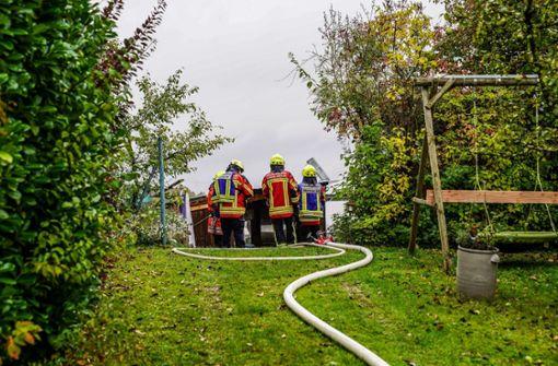 20.000 Euro Schaden bei Brand in Gartenhaus