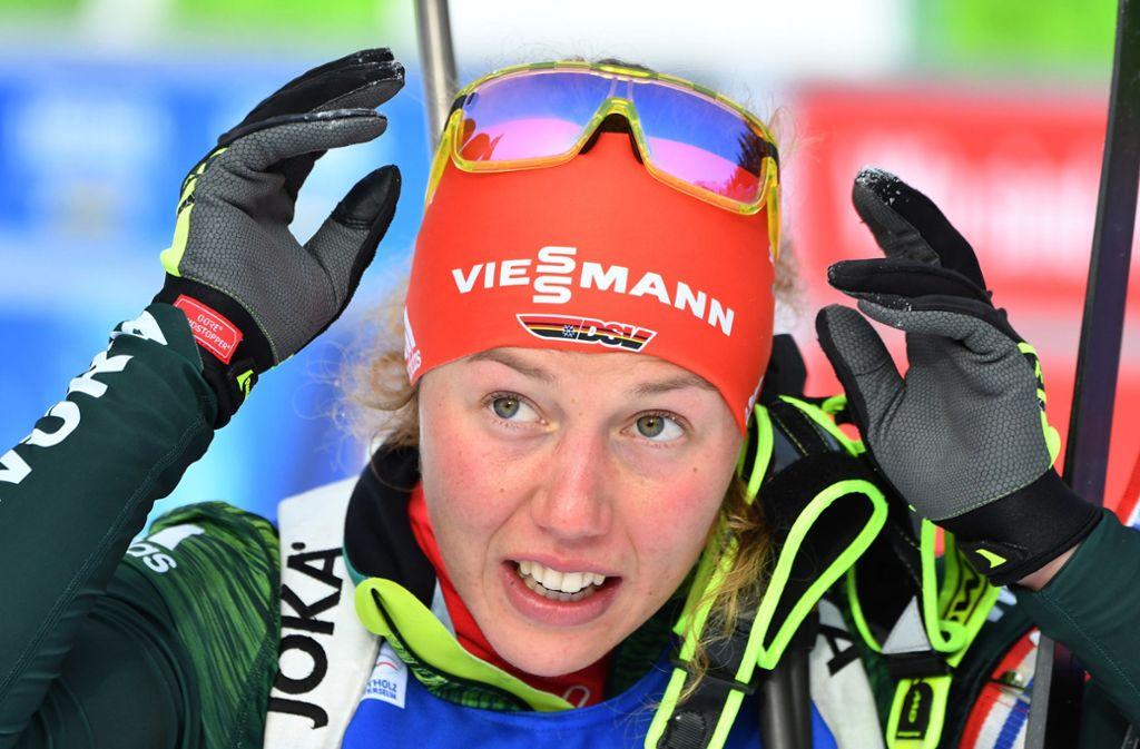 Laura Dahlmeier beendet ihre Karriere. Foto: dpa