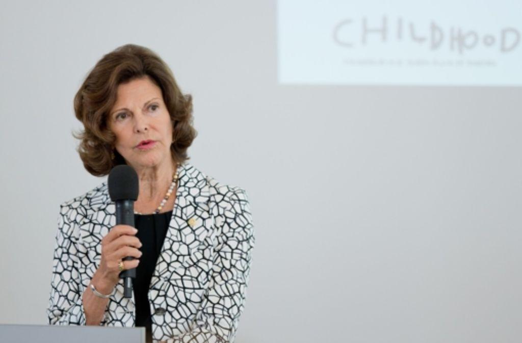 """Mit einem Grußwort eröffnete Silvia von Schweden  am Mittwochmittag eine Fachtagung ihrer Stiftung """"World Childhood Foundation"""" in  Würzburg. Foto: dpa"""