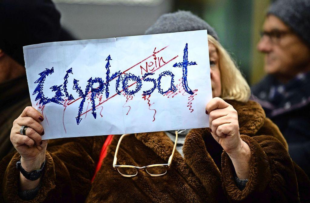 Protest gegen Glyphosat gibt es immer wieder – wie hier im November 2017 in München vor der Parteizentrale der CSU. Foto: dpa