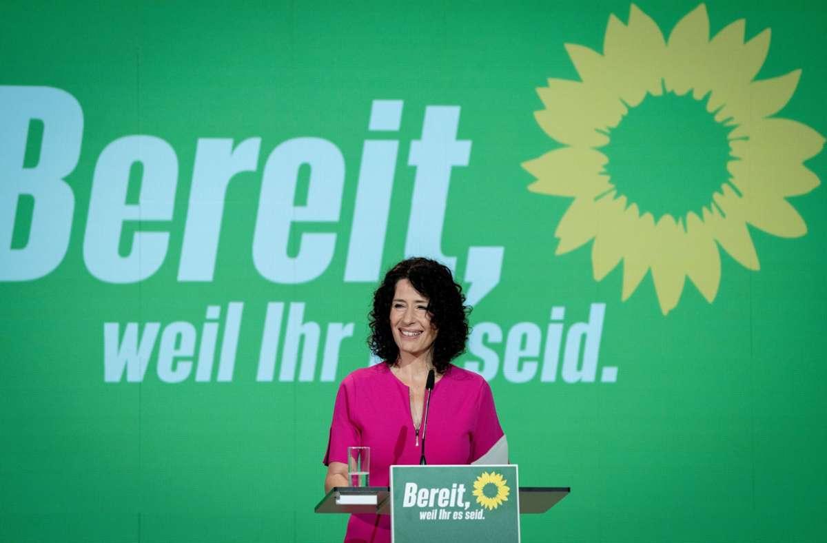 Bettina Jarasch wandte sich mit einem starken Appell für mehr Bildungsgerechtigkeit an die Delegierten. Foto: dpa/Kay Nietfeld