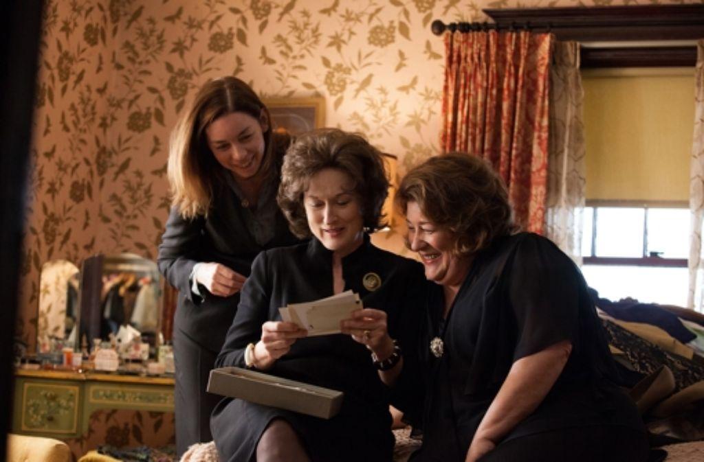 Die Frauen (Julianne Nicholson, Meryl Streep, Margo Martindale, von links) haben in diesem Film eindeutig mehr zu sagen als die Männer. Foto: Tobis Film