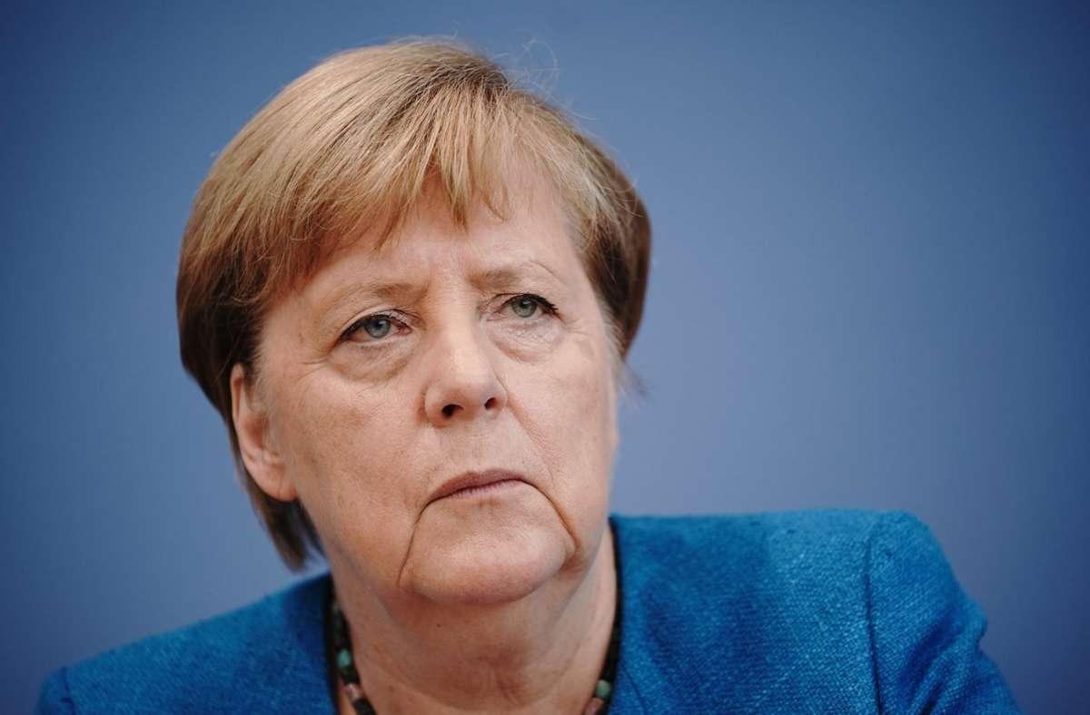 Bundeskanzlerin Angela Merkel appelliert an die Bevölkerung und fordert zum Durchhalten in der Corona-Krise auf. Foto: dpa/Michael Kappeler