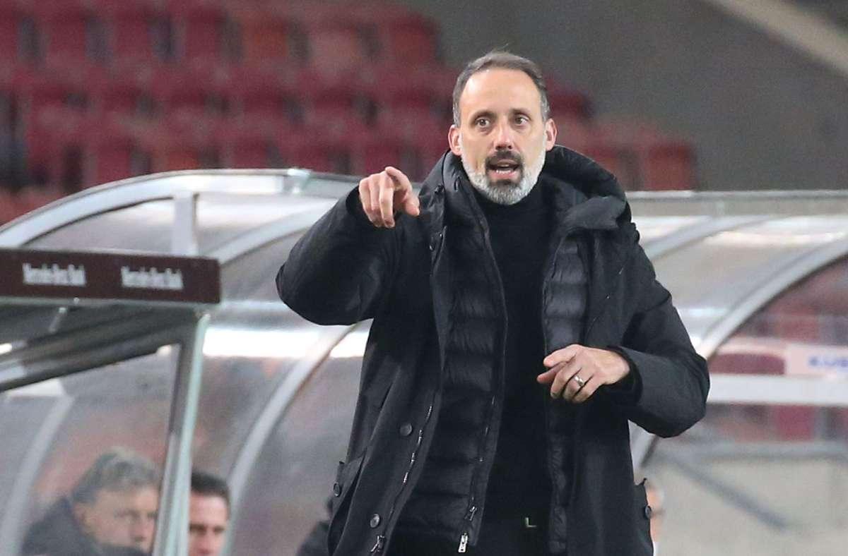 Trainer Pellegrino Matarazzo hat nach dem Spiel die Moral seiner Mannschaft in den Fokus gestellt. Foto: Pressefoto Baumann/Alexander Keppler