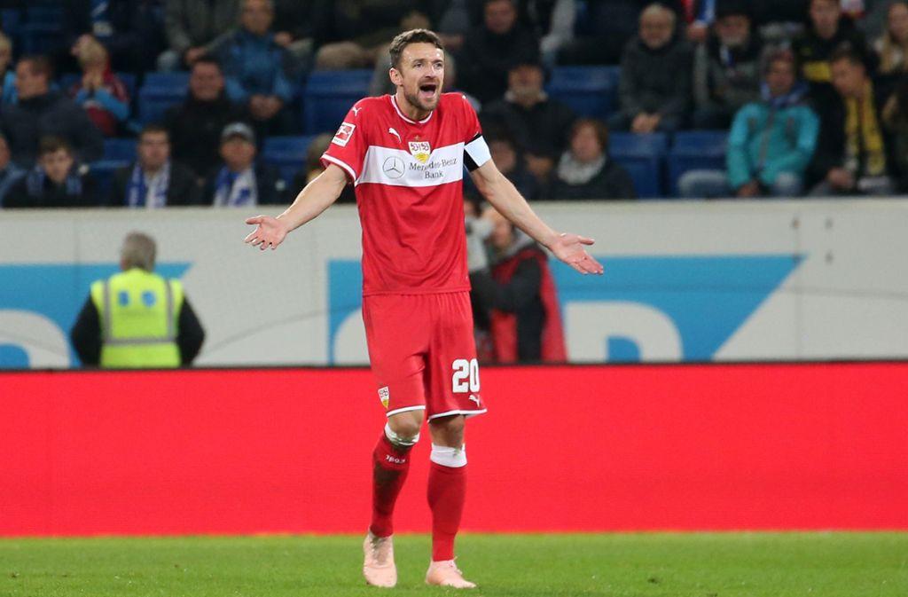 Fassungslose Gesichter bei den VfB-Spielern. Foto: Pressefoto Baumann