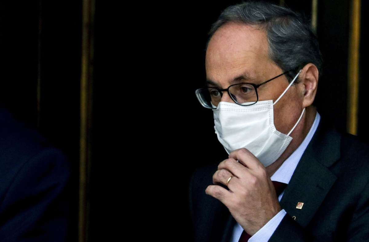 Kataloniens Regionalpräsidenten Quim Torra ist des Amtes enthoben worden. (Archivbild) Foto: AP/Manu Fernandez