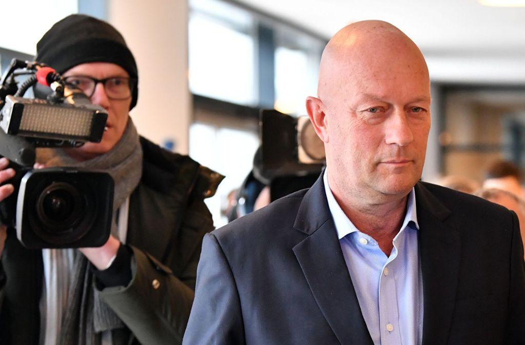 Noch ist er im Amt: Thüringens Ministerpräsident Thomas Kemmerich. Foto: dpa/Martin Schutt