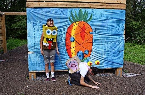 Die Dream-Team-Herausforderung für den Aki Musberg dreht sich um die TV-Comic-Serie Spongebob Schwammkopf. Der kleine gelbe Schwamm lebt mit seiner Hausschnecke Gary in einem Ananas-Haus am Meeresgrund. Foto: Rebecca Stahlberg