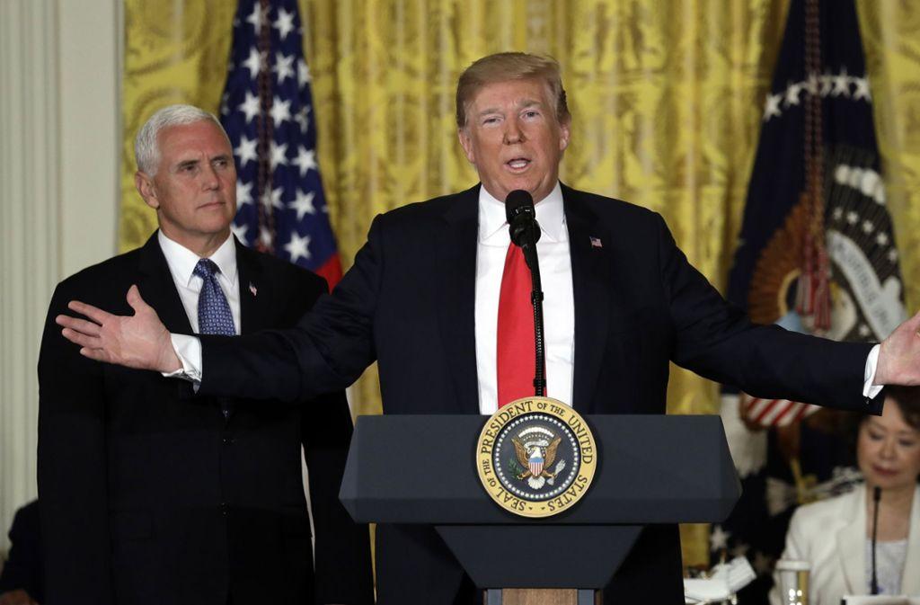 Donald Trump will nicht nur die Erde, sondern jetzt auch den Weltraum dominieren. Foto: AP