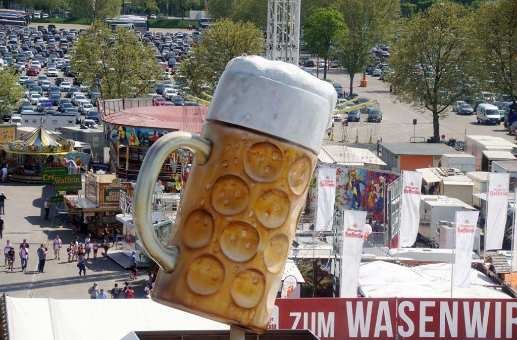 Am 20. April beginnt wieder das Frühlingsfest auf dem Stuttgarter Wasen. Foto: Andreas Rosar