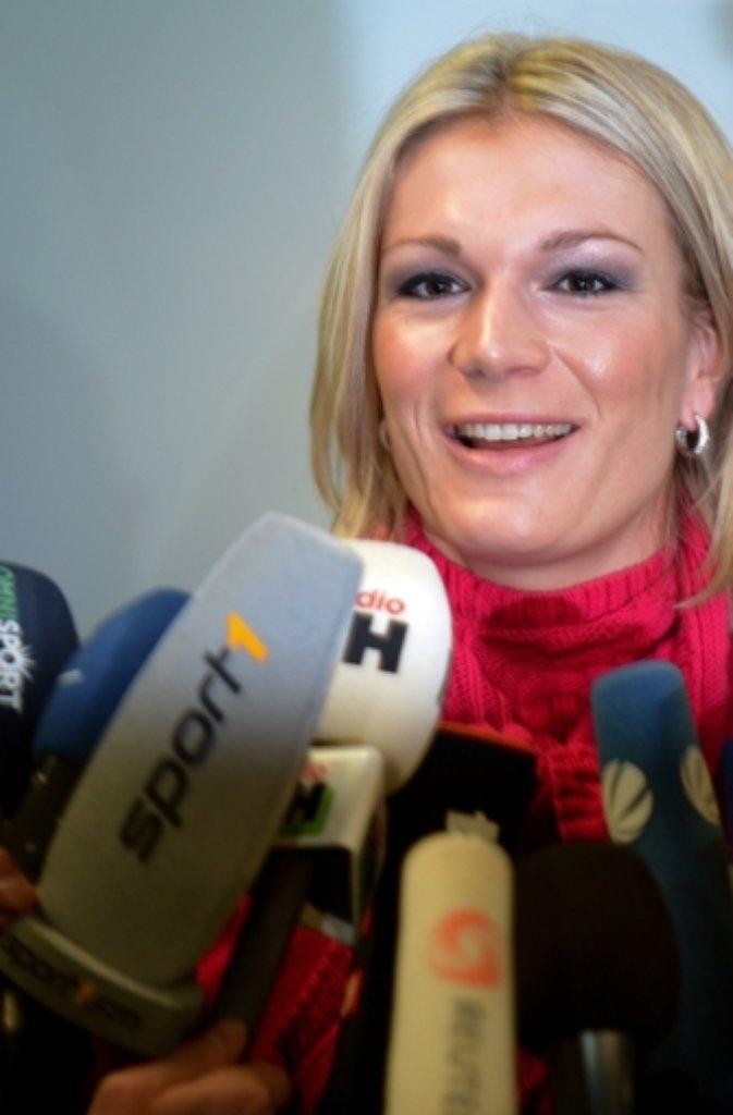 Maria Höfl-Riesch wird bei der Eröffnungsfeier der Olympischen Winterspielen in Sotschi am Freitag die deutsche Fahne tragen. Foto: dpa