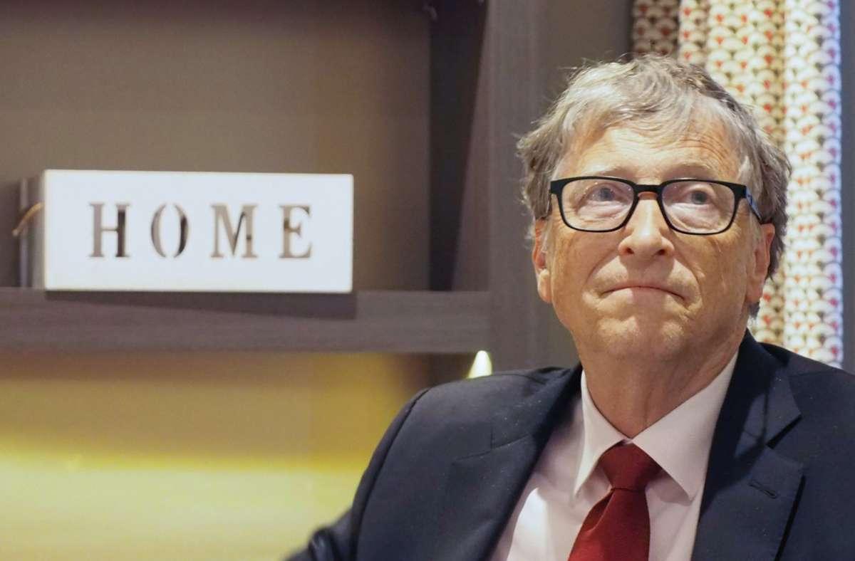Microsoft-Gründer Bill Gates Foto: dpa/Christian Böhmer