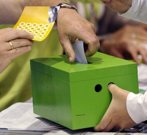 Per Urwahl wollen die Grünen ihr Spitzenduo für die Bundestagswhl bestimmen. Foto: dpa