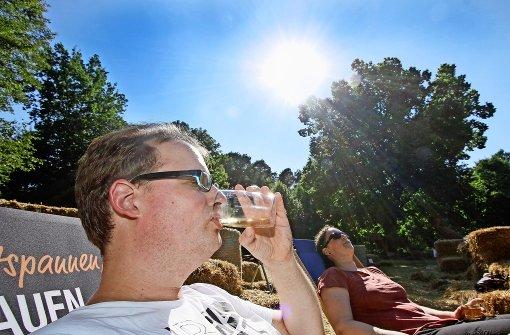 Kühle Getränke machen die Hitze erträglich