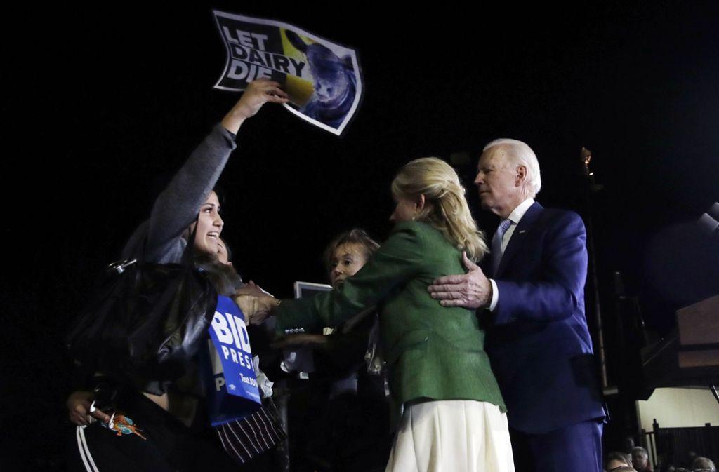 Jill Biden im Einsatz für ihren Mann. Foto: AP/Marcio Jose Sanchez