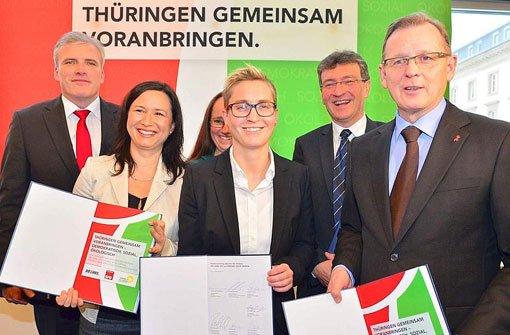 Erste rot-rot-grüne Regierung perfekt