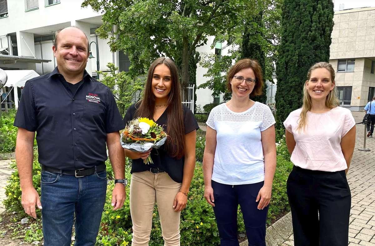 Markus Stammberger, Tabea Alt, Mirjam Trölenberg und Aufwind-Casemanagerin  Amelie Hallmann Foto: privat