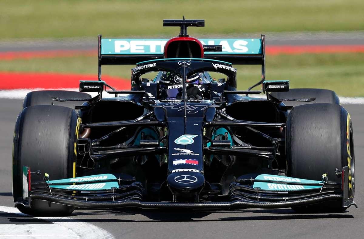 Lewis Hamilton hat in Silverstone gewonnen. Foto: AFP/ADRIAN DENNIS