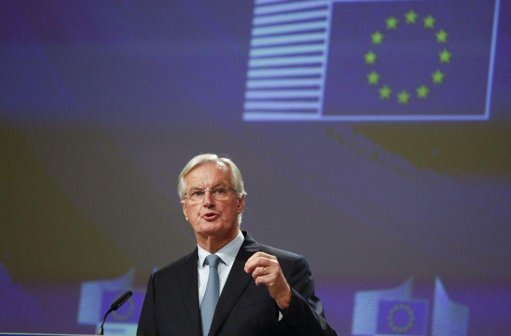 EU-Unterhändler Michel Barnier hat offenbar einen Durchbruch erreicht. Foto: AP/Frank Augstein