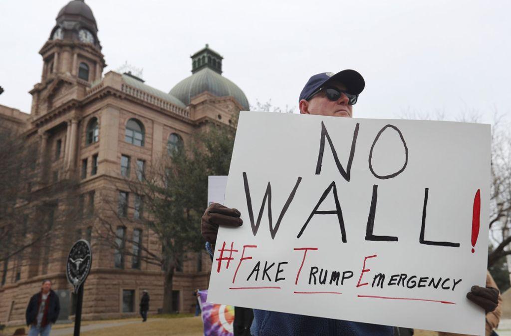Es geht um zusätzliche Milliarden für den Mauerbau. Foto: AP